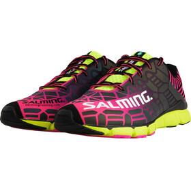 Salming W's Speed 6 Shoes Fluo Pink/Flou Yellow